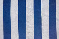 Fabric with blue and white stripe Royalty Free Stock Photos