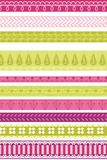 Fabric border art Stock Photography