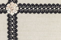 Fabric border textile Royalty Free Stock Image