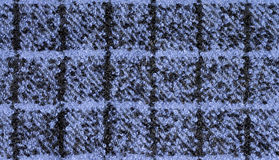 Fabric boucle of blue and black colors Royalty Free Stock Photo