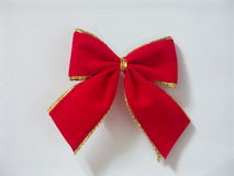 Fabric bow. With gold border Royalty Free Stock Image