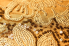 Fabric with bright sequins for background Stock Photography