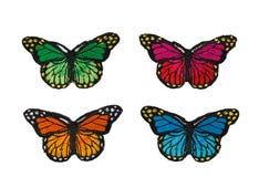 Fabric butterflies Stock Photo