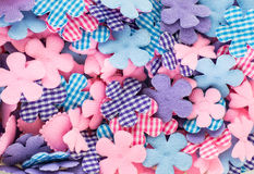 Fabric buttons. Buttons are made of fabric Stock Photo
