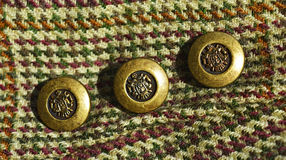 Fabric and buttons Royalty Free Stock Image