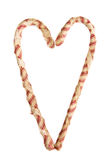 Fabric candy canes Royalty Free Stock Photos