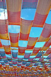 Fabric canopy roof Stock Images