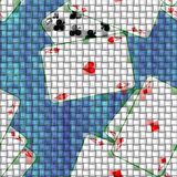 Fabric and canvas texture with playing cards. Seamless pattern texture background. The table in the gaming casino. Royalty Free Stock Photos