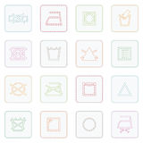 Fabric care symbols Royalty Free Stock Images