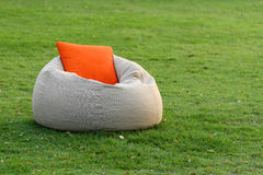 Fabric chair with pillow Stock Image