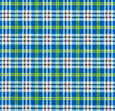 A fabric with a checked pattern in blue tones Royalty Free Stock Photo
