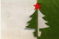Fabric Christmas card Stock Image