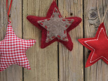 Fabric Christmas Stars Stock Photos