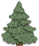 Fabric Christmas tree Stock Photos