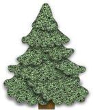 Fabric Christmas tree Stock Photos