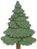 Fabric Christmas tree Stock Photo
