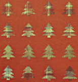 Fabric Christmas trees background Stock Images