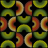 Fabric circle pattern Royalty Free Stock Image