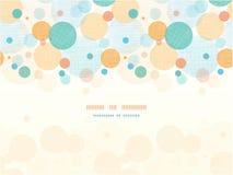 Fabric circles abstract horizontal seamless Royalty Free Stock Image