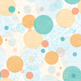 Fabric circles abstract seamless pattern Royalty Free Stock Image
