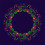 Frame, flower, floral, border, decoration, christmas, heart, red, illustration, abstract, green, white, flowers, love, isolated, c. The fabric is a circular vector illustration