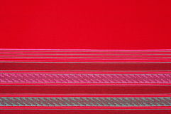 Fabric cloth  pattern color red Stock Photography