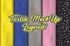 Fabric or cloth, textile and clothing material Stock Image