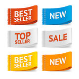 Fabric Clothing Sale Labels. Vector. Fabric Clothing Sale Labels. Realistic Textile Labels. Vector illustration Royalty Free Stock Photography