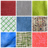 Fabric collage Royalty Free Stock Photography