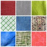 Fabric collage vector illustration