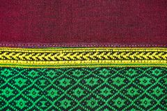 Fabric color Antique handwoven fabric, natural dyes fabrics, beautiful colors, beautiful fabrics, old fashion fabrics silk thai Stock Photo