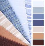 Fabric color chart Royalty Free Stock Images