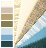 Fabric color choice. Contemporary fabric color  chart choice Stock Photo