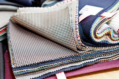 Fabric color samples. Color background Royalty Free Stock Images