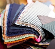 Fabric color samples Stock Image
