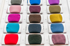 Fabric color samples palette Stock Image