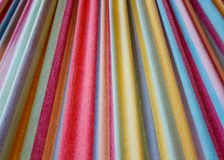 Fabric Color Stripes - Horizontal Stock Image
