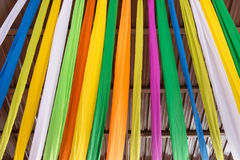 The Fabric Colorful for decoration celebrate at a local event fo Stock Photography