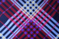 Fabric with colorful stripes from above. Fabric with colorful diagonal stripes from above Royalty Free Stock Photography