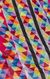 Fabric with colors and geometric shapes Royalty Free Stock Photo