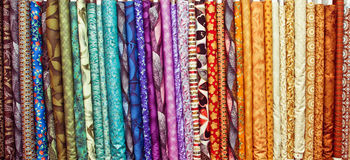 Fabric colours Stock Photos