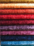 Fabric colours selection Stock Photos