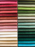 Fabric colours selection Stock Images