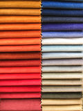 Fabric colours selection Stock Image
