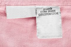 Fabric composition label Royalty Free Stock Photos