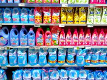 Fabric Conditioner sold in a grocery store Stock Photography