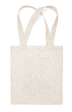 Fabric cotton eco bag on white. Fabric cotton bag isolated on white background royalty free stock photography