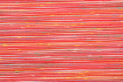 Fabric cotton texture. Fabric striped red  cotton texture Stock Photo