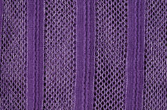 Fabric with crochet work background Stock Photography