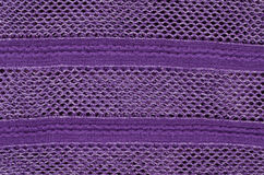 Fabric with crochet work Royalty Free Stock Photography